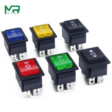 KCD4 Rocker Switch Power 2 position/ 3 position 6 Pins Electrical equipment With Light 16A 250VAC/ 20A 125VAC 1PCS