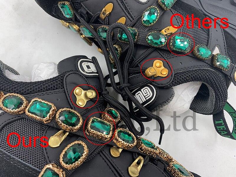Malha celebridade diamante mulheres luxo designer sapatos