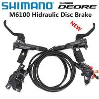New SHIMANO DEORE M6100 m6000 2 piston M6120 4 piston Brake Mountain Bikes Hidraulic Disc Brake MTB BR BL-M6100 DEORE Brake