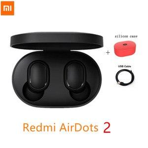 NEW Original Xiaomi Redmi Airdots 2 True Wireless Bluetooth 5.0 earphone Voice control With Mic Handsfree Earbuds AI Control