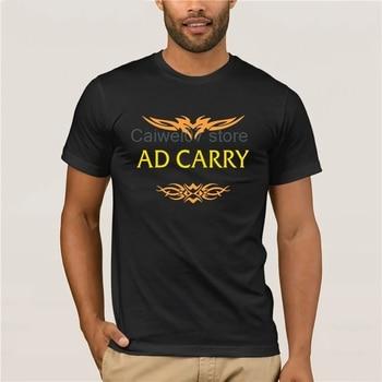 Men's Cool Short-Sleeve T-Shirt League of Legends AD CARRY t-shirt for men 1
