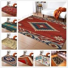 Boêmio 3d impressão tapete cor geometria retro estilo étnico tapetes para sala de estar quarto área tapetes cozinha casa