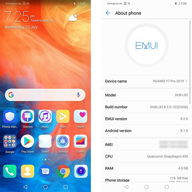 "Huawei Y7 PRO 2019 (Huawei Enjoy 9) Mobile phone 4GB 128GB 6.26 "" Snapdragon 450 Octa Core 13MPRear"