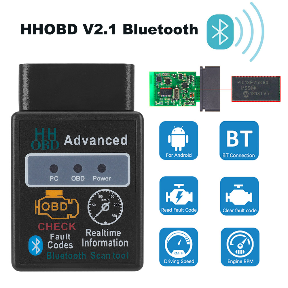 Bluetooth OBD2 ELM327 V2.1 Car Diagnostic Tools For Renault Nissan Clio Koleos Duster Qashqai X Trail Juke Teana Tiida Scanner