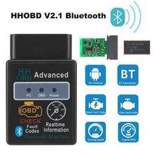 Bluetooth OBD2 ELM327 V2.1 herramientas de diagnóstico de coche para Peugeot Dodge i40 Hyundai i30 cargador Challenger 407, 307, 206, 308, 207 escáner
