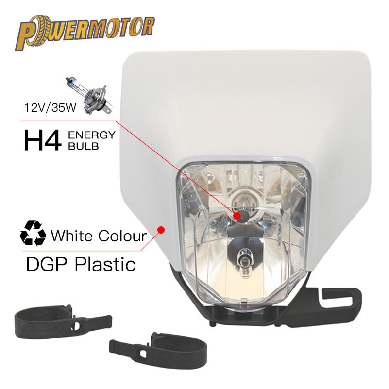 Universal Motorcycle Headlight Head Light Motorcycle Lamp Light For KTM Headlight SMR EXC XC XCF XCW Bike Headlight With H4 Bulb