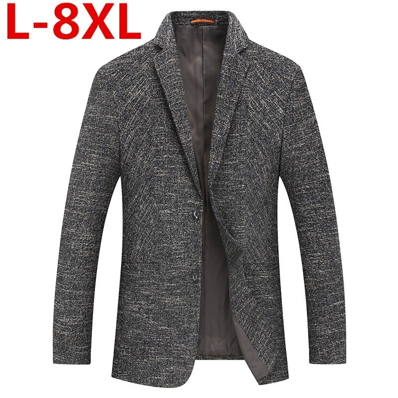Plus8XL 7XL 6XL 5XL  New Arrival Brand Clothing Jacket Spring Suit Jacket Men Blazer Fashion Slim Male Suits Casual Blazers Men