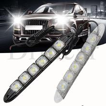 цена на 2Pcs 6LED Flexible Fog Light DRL Daytime Running Light Waterproof  Driving Fog Bulb Warning Lamp Car Styling DC 12V Auto Led