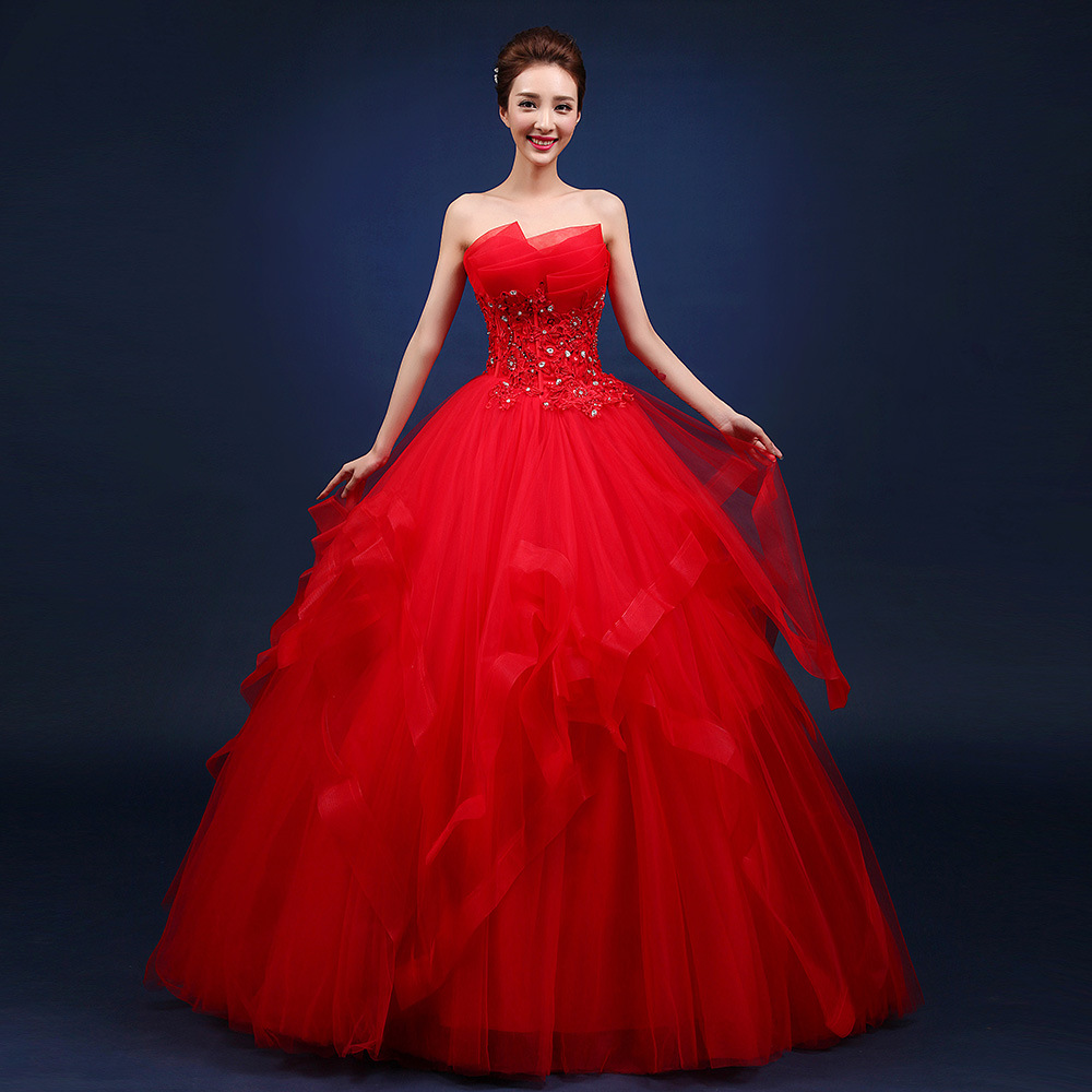 Image 3 - Quinceanera Dresses 2019 The Party Prom Elegant Strapless Ball Gown 5 Colors Formal Homecoming Quinceanera Dress Custom Size F-in Quinceanera Dresses from Weddings & Events