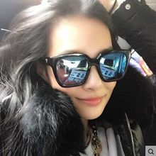 Superstar brand designer colorful film reflective men and women polarized sunglasses female celebrity driving