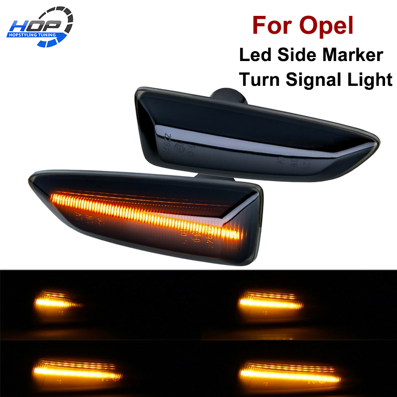2pcs <font><b>LED</b></font> Dynamic Side Marker Turn Signal Light Sequential Blinker For Opel <font><b>Astra</b></font> <font><b>J</b></font> <font><b>Astra</b></font> <font><b>J</b></font> K Zafira C Insignia B Grandland X image