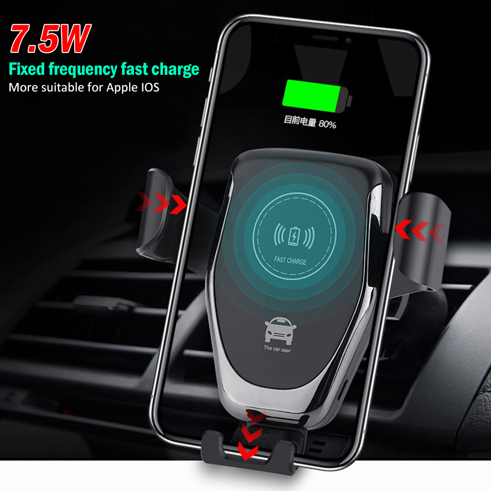 10W Car Holder Stand Fast Charging Air Vent Gravity Mount Wireless Charger Smart Wireless Fast Charging for Phone