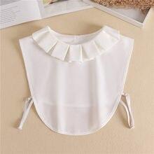 Nep Kraagie – col détachable pour femme, élégant, Faux chemisier, chemise, demi-chemise, 2021