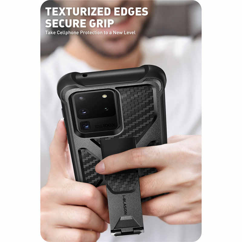 For Samsung Galaxy S20 Ultra Case / S20 Ultra 5G Case i-Blason Transformer Dual Layer Rugged Bumper Case with Built-in Kickstand