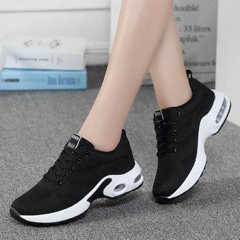 Damskie buty sportowe z amortyzacją buty sportowe dla kobiet buty do tenisa białe różowe buty do biegania na świeżym powietrzu buty do biegania damskie trenerzy sneaeker tanie i dobre opinie Akexiya CN (pochodzenie) WOMEN oddychająca Pochłaniające wstrząsy w stylu butów do tenisa Średnia (B M) Cotton Fabric