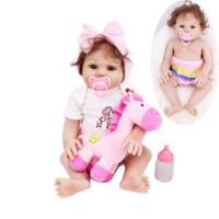 NPK DOLL 18inches Silicone Reborn Baby Doll Surprises Gifts Lifelike Alive Infant bebe reborn Toddler girl lol Dolls Toys