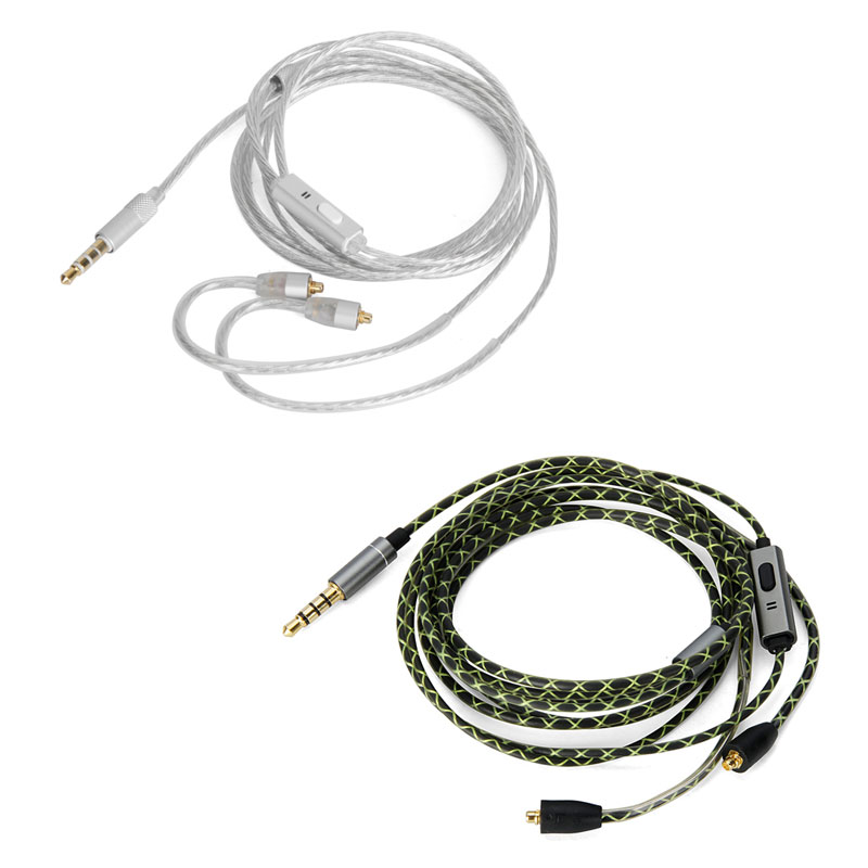 Silver Plated Audio Cable With remote mic For Onkyo IE-C1//C2//C3 IN-EAR MONITOR