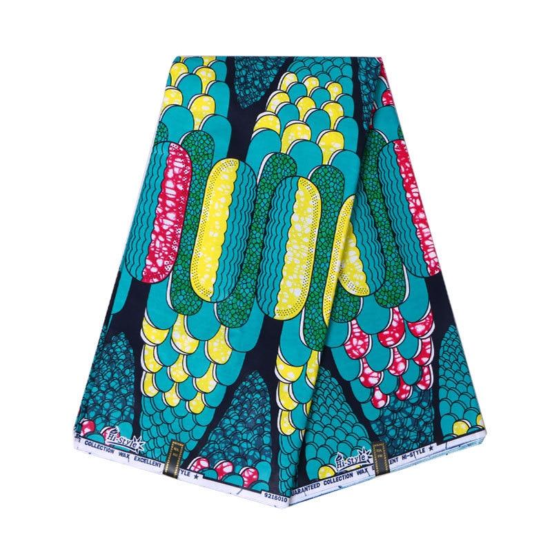 Lastest Fashion African Print Wax Fabric 2019 Wax High Quality 100% Cotton 6Yards\lot