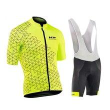 Велоспорт Pro Team Northwave Велоспорт Джерси Мужская одежда для велоспорта MTB Велоспорт нагрудник шорты велосипед Джерси Набор Ropa Ciclismo Hombre