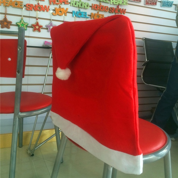 METABLE 1pcs Santa Clause Red Hat Chair Back Cover Christmas Dinner Festival Decor Cozy in Christmas Hats from Home Garden