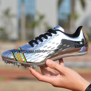 Młodzieżowe długie sprintowe buty lekkoatletyczne kolce męskie i damskie gry lekkoatletyczne buty treningowe buty dla dorosłych tanie i dobre opinie NoEnName_Null CN (pochodzenie) Podłoga PCV Profesjonalne Adult Buty utwór i pola Sznurowane Dobrze pasuje do rozmiaru wybierz swój normalny rozmiar