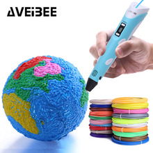 3D kalem orijinal DIY 3 D baskı kalem ile 100M 20 renk PLA Filament ABS plastik yaratıcı oyuncak hediye çocuklar için...