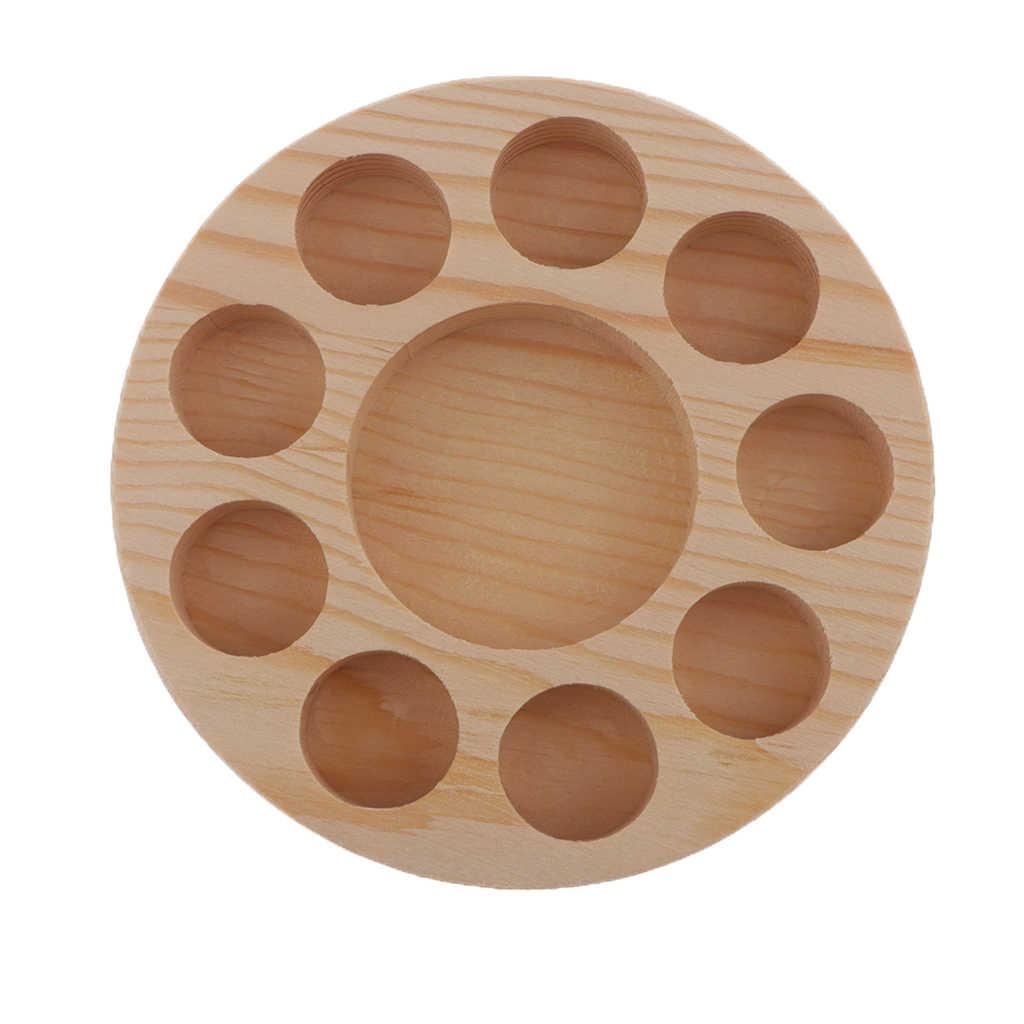10 szczelin drewno olejki eteryczne uchwyt wieszak stojący półka ekspozycyjna drewniany pojemnik do przechowywania uchwyt skrzynki olejek organizator