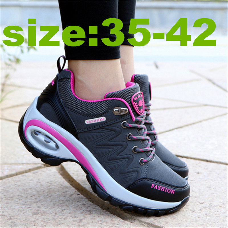 High Quality Female Genuine Leather Four Seasons Sport Running Shoes Woman's Air Cushion Damping Sneakers Women Zapatos De Mujer