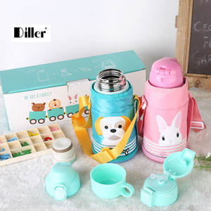 Cup Dille Water-Bottle Durable-Material Food-Grade Vacuum Kids Portable 304-Stainless-Steel