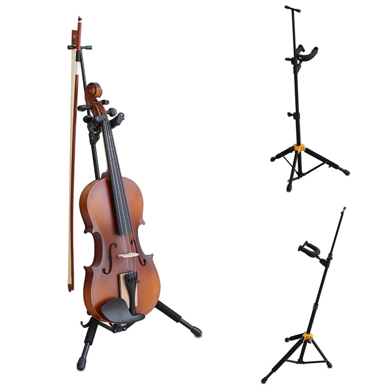 Portable Violin Stand Support Bracket Retractable Musical Instrument Holder Violin Accessories