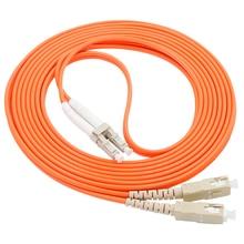LC/UPC-SC/UPC fiber optic patch cordDuplex Multimode cable LC-SC optical fibre jumper some research on optical fibre security