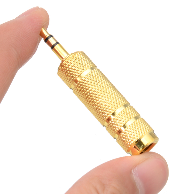 Mayitr Convertidor de adaptador de enchufe a Jack 3,5, 1 unidad, 1/8mm, 6,35 macho a 1/4mm, 3,5 hembra, Adaptador de Audio estéreo, 6,35