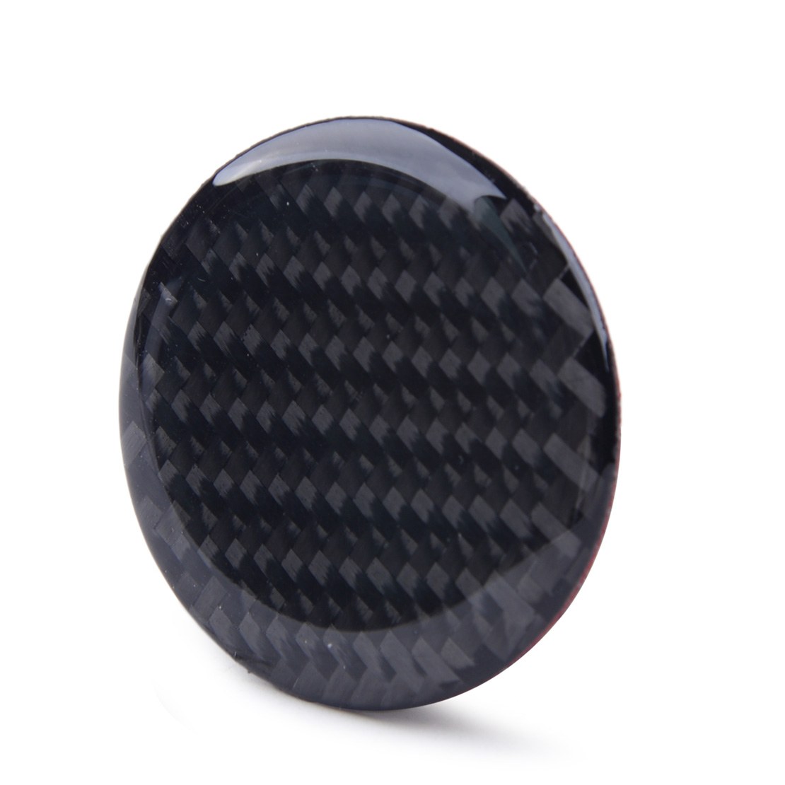 4.0 cm Carbon Fiber Black Car Multi-Media Control Knob Decor Sticker Fit For Audi A3 S3 8V 2014 2015 2016 2017 2018 2019 image