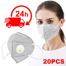 10pcs N95 KN95 Anti-Fog FFP2 FFP3 Dust Mask Child Adult PM2.5 Valved Face Mouth Masks Healthy Air Filter Dust Proof Protection