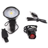 USB Rechargeable LED Bike Light Set  Bicycle Headlight Front Light Bike LED light  Waterproof|Bicycle Light| |  -