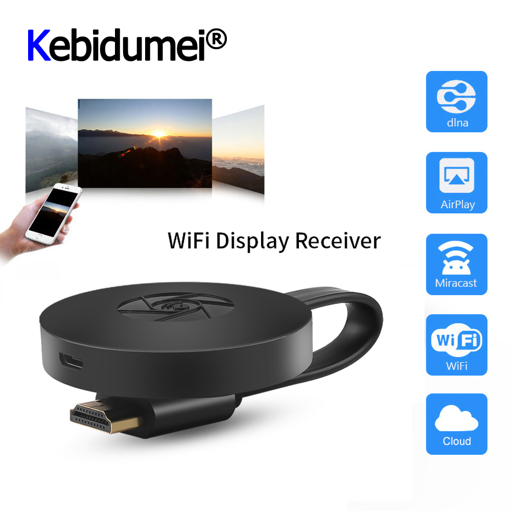 Para mirascreen tv vara dongle crome cast hdmi-compatível wi-fi receptor de exibição para google chromecast 2 mini pc android tv
