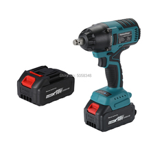 Impact-Wrench Battery-Powered 550n.m Brushless Two-18v 4.0ah-Batteries Lithium-Ion True