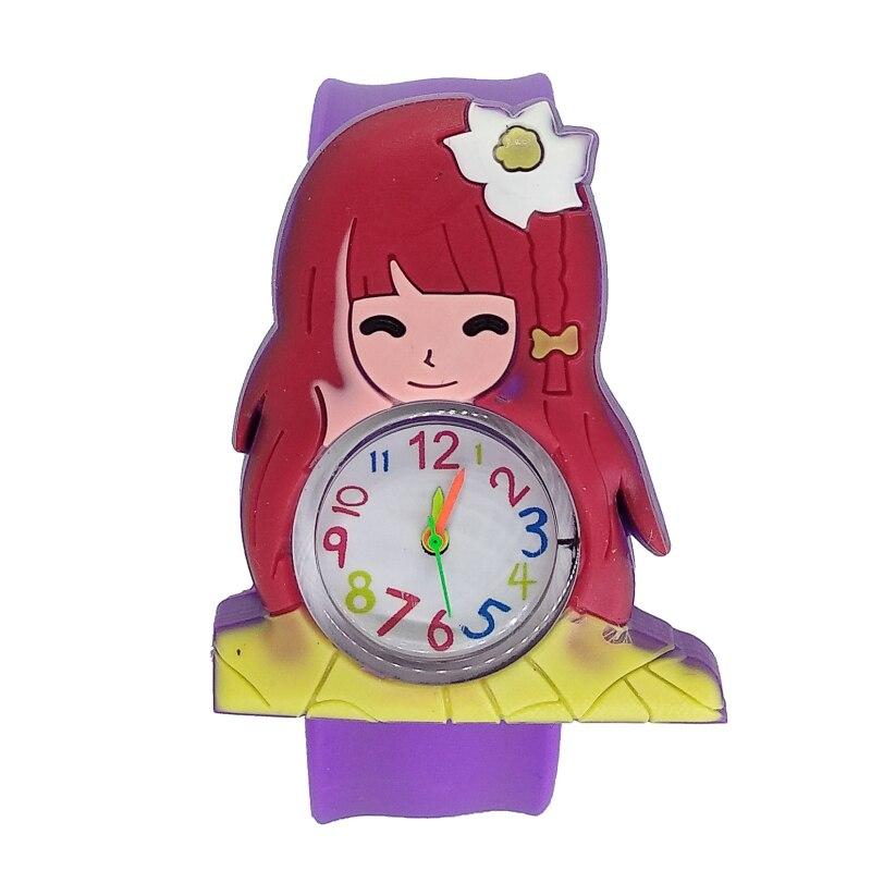 2019 New Good Quality Fashion Kids Watches Girls Watch Children Student Silicone Waterproof Quartz WristWatch Slap Baby Gift