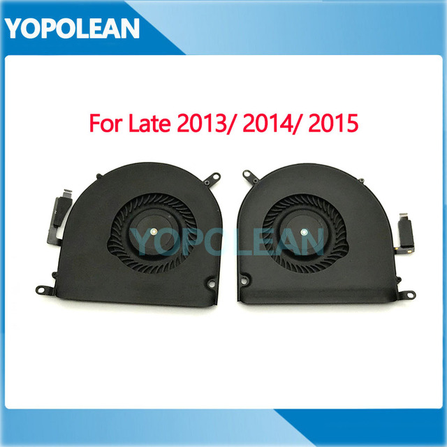 "Original Left and Right CPU Cooler Cooling Fan For Macbook Pro Retina 15"" A1398 Late 2013 Mid 2014 2015 Years"