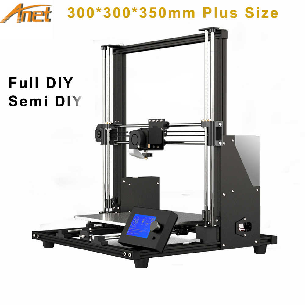 300*300*350 Mm Nieuwe Collectie Upgraded Anet A8 Hoge Precisie Diy A8 Plus 3D Printer Zelf -Montage Aluminium Frame Beweegbare Lcd