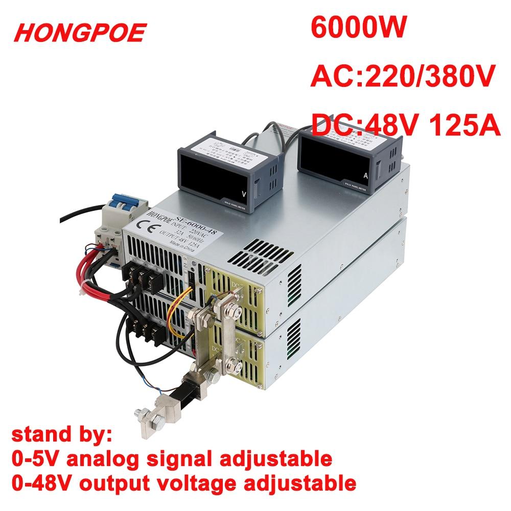 48v 125a 6000w de alta potência transformador motor led