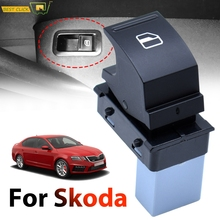 Power Single Window Lifter Switch Door Side Electric Control Button Knob For Skoda Octavia Fabia Superb Roomster OE# 5J0959855