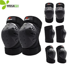 WOSAWE Adult Elbow Knee Protector Sets Cycling Snowboarding Ski Skateboard Sports Brace Support Volleyball Hockey Knee Pads
