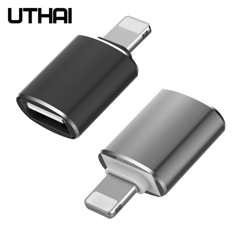 Uthai C56 Lightning To USB3.0 OTG Adapter For IPhone IOS13 To USB Converter Connecet Mouse U Flash Drive No Need App Plug&play