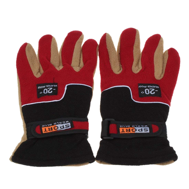 Men's Sports Warm <font><b>Gloves</b></font>,Windproof Thermal Winter Motorcycle Skiing Snow <font><b>Gloves</b></font> (<font><b>Red</b></font>) image