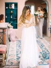 Robe de mariee кружевные свадебные платья 2020 с длинным рукавом