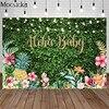 Aloha bebé fiesta telón de fondo diseño Tropical Hawái flores frutas fotografía fondo de cumpleaños de Luau decoración de ducha de bebé Prop foto de estudio