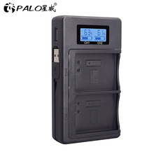 LCD USB شاحن مزدوج لكانون EOS 1100D 1200D 1300D قبلة X50 X70 X80 المتمردين T3 T5 T6 L10 شاحن ل LP E10 LP E10 LPE10