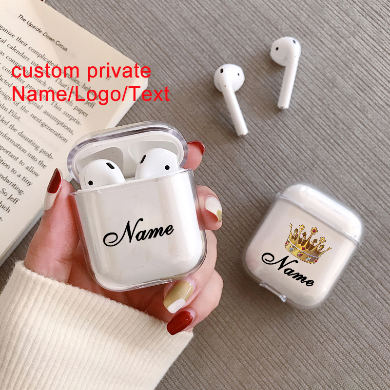 Custom Name/logo/text Soft Silicone Case For Air Pods Case For Bluetooth Wireless Airpod Cover DIY Candy Color Photo Letters Hot