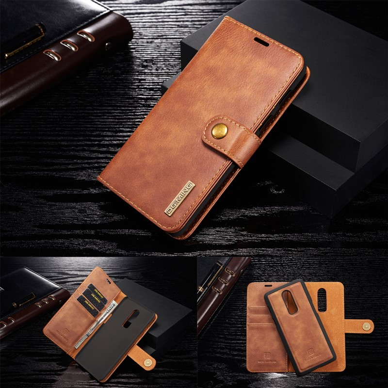 Luxury Flip <font><b>Wallet</b></font> Leather <font><b>Case</b></font> For <font><b>Oneplus</b></font> 8 pro Detachable Magnetic <font><b>2</b></font> in 1 Removable Card Slot Back Cover Coque Fundas 1+6 image